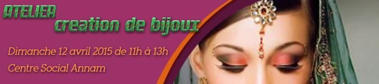 Atelier de création de bijoux indiens à Paris le 12 avril