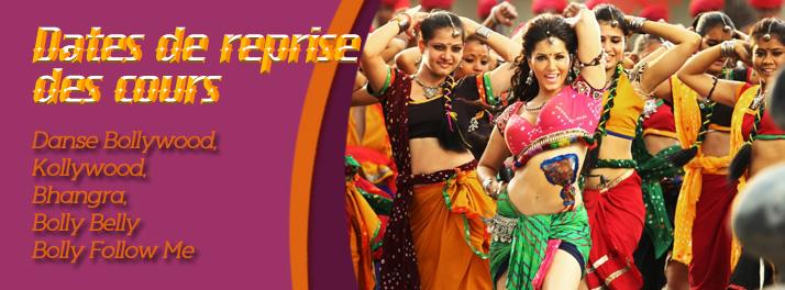 Dates des reprises des cours réguliers de danse indienne à Paris