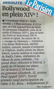 article le parisien edition de Paris du 19 juillet 2014