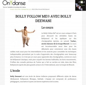 Article On y danse septembre 2014 BFM